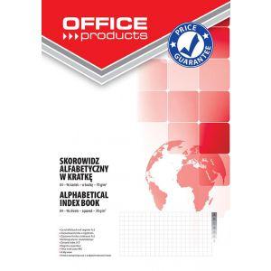 Skorowidz OFFICE PRODUCTS, A4, w kratkę, alfabetyczny, twarda okładka, 96 kart., 70gsm