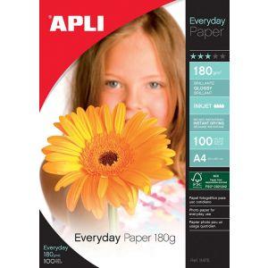 Papier fotograficzny APLI Everyday Photo Paper, A4, 180gsm, błyszczący, 100ark.