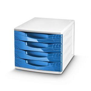 Zestaw 4 szufladek CEP Origins, niebieski
