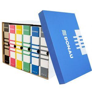 Pudło archiwizacyjne DONAU, karton, zbiorcze, górne, niebieskie