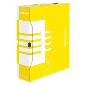 Pudło archiwizacyjne DONAU, karton, A4/80mm, żółte