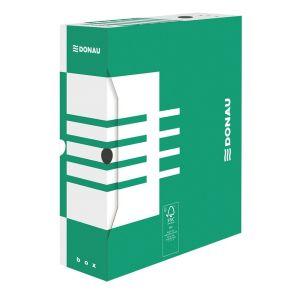 Pudło archiwizacyjne DONAU, karton, A4/100mm, zielone