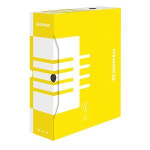 Pudło archiwizacyjne DONAU, karton, A4/100mm, żółte
