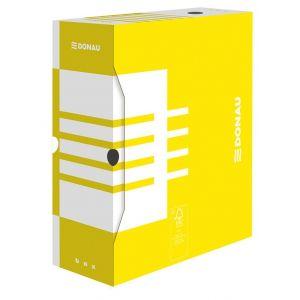 Pudło archiwizacyjne DONAU, karton, A4/120mm, żółte