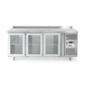 Stół chłodniczy 3-drzwiowy przeszklony z agregatem bocznym - kod 233436
