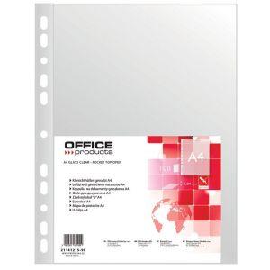 Koszulki na dokumenty OFFICE PRODUCTS, PP, A4, groszkowe, 40mikr., 100szt.