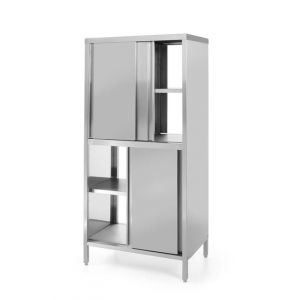 Pass-through cabinet with sliding doors - screwed