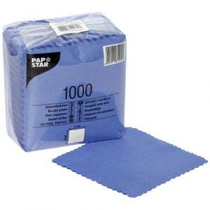 Serwetki 17x17 ząbkowane niebieskie, opakowanie 1000 sztuk