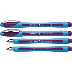 Długopis SCHNEIDER Slider Memo, XB, fioletowy