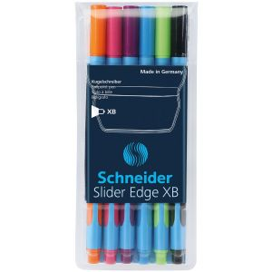 Zestaw długopisów w etui SCHNEIDER Slider Edge, XB, 6 szt., miks kolorów