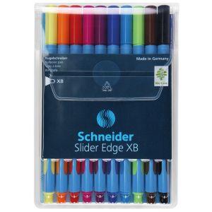 Zestaw długopisów w etui SCHNEIDER Slider Edge, XB, 10 szt., miks kolorów