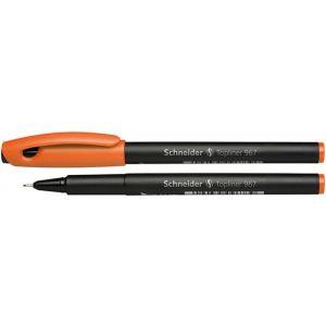Cienkopis SCHNEIDER Topliner 967, 0,4 mm, pomarańczowy