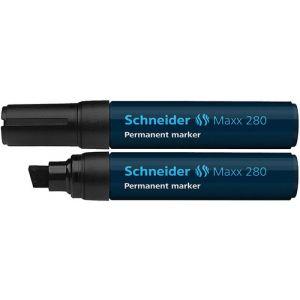 Marker permanentny SCHNEIDER Maxx 280, ścięty, 4-12mm, czarny