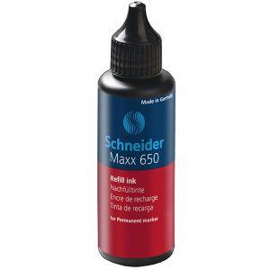 Tusz uzupełniający SCHNEIDER Maxx 650, 50 ml, czerwony