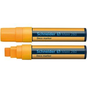 Marker kredowy SCHNEIDER Maxx 260 Deco, 5-15mm, pomarańczowy