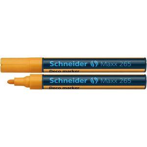 Marker kredowy SCHNEIDER Maxx 265 Deco, okrągły, 2-3mm, pomarańczowy