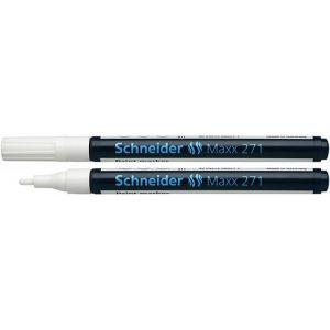 Marker olejowy SCHNEIDER Maxx 271, okrągły, 1-2mm, biały