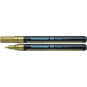 Marker olejowy SCHNEIDER Maxx 271, okrągły, 1-2mm, złoty