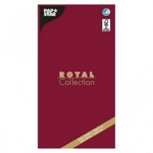 Obrus PAPSTAR Royal Collection 120x180 bordowy(10)