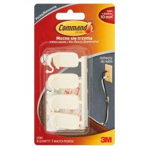 Uchwyty do kabli COMMAND™ (17301 PL), średnie, białe