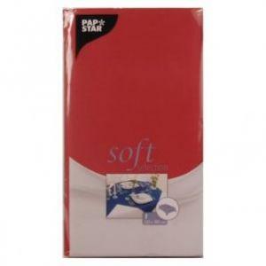 Obrus PAPSTAR Soft Selection 120x180 czerwony włóknina