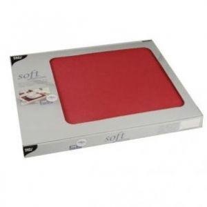 Podkładki na stół PAPSTAR Soft Selection, 30x40 czerwon 100szt., włóknina