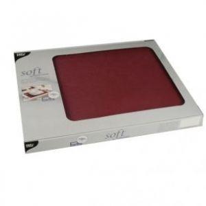 Podkładki na stół PAPSTAR Soft Selection 30x40 bordo 100szt. , włóknina