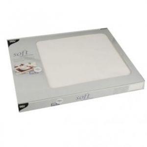 Podkładki na stół PAPSTAR Soft Selection 30x40 100szt biały, włóknina