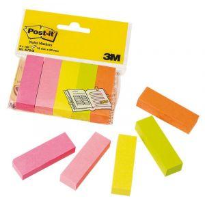 Znaczniki POST-IT® (670/5), papier, 15x50mm, 5x100 kart., mix kolorów neonowy