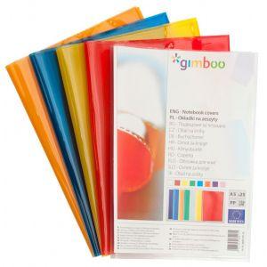 Okładka na zeszyt GIMBOO, krystaliczna, A5, 150mikr., mix kolorów