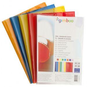 Okładka na zeszyt GIMBOO, krystaliczna, A4, 150mikr., pomarańczowa