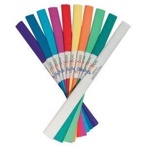 Bibuła marszczona GIMBOO, w rolce, 50x200cm, mix kolorów