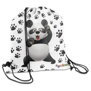Worek szkolny XXL GIMBOO Vip Panda, 47x40cm