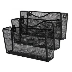 Zestaw naścienny Q-CONNECT Office Set, metalowy, 3 półki, czarny