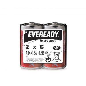 Bateria EVEREADY Heavy Duty, C, R14, 1,5V, 2szt.