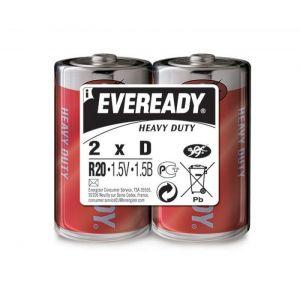 Bateria EVEREADY Heavy Duty, D, R20, 1,5V, 2szt.