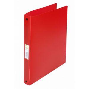 Segregator ringowy Q-CONNECT, PP, A4/4R/25mm, transparentny czerwony