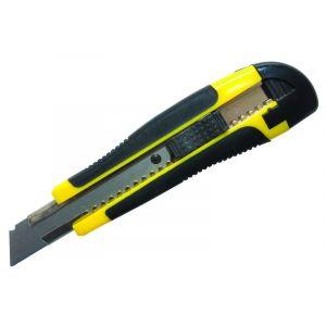Nóż pakowy DONAU Professional, gumowa rękojeść, z blokadą, żółto-czarny
