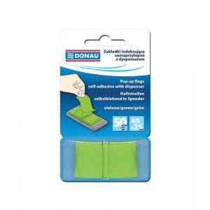 Filing Index Tabs DONAU, PP, 25x45mm, 1x50 tabs, green