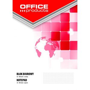 Blok biurowy OFFICE PRODUCTS, A5, w kratkę, 100 kart., 70gsm