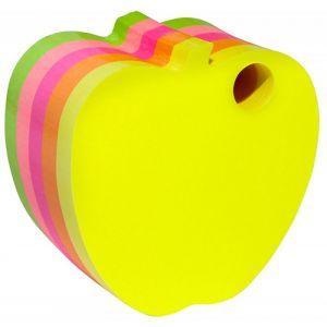 Bloczek samoprzylepny DONAU jabłko, kostka, 1x400 kart., neonowe