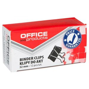 Klipy do dokumentów OFFICE PRODUCTS, 32mm, 12szt., czarne