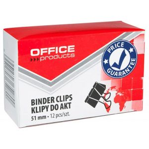 Klipy do dokumentów OFFICE PRODUCTS, 51mm, 12szt., czarne