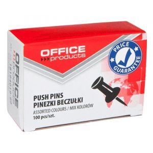 Pinezki beczułki OFFICE PRODUCTS, 100szt., mix kolorów