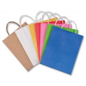 Torebka na prezenty FOLIA PAPER, papierowa, 24x12x31cm, gr. 110g/m2, mix kolorów