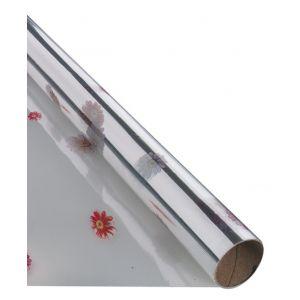 Gift wrap foil, FOLIA PAPER, 70x200cm, roll, transparent patterns