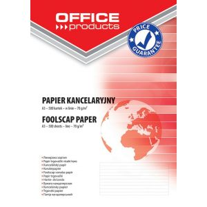 Papier kancelaryjny OFFICE PRODUCTS, w linie, A3, 500ark.