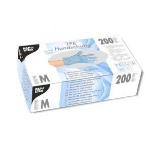 Rękawiczki TPE niebieskie rozmiar M opakowanie 200 sztuk