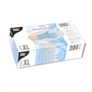 Rękawiczki TPE niebieskie rozmiar XL opakowanie 200 sztuk