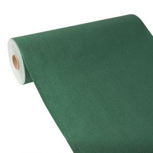 """Bieżnik z PV-Tissue Mix przypominającej tkaninę, """"ROYAL Collection"""" w rolce 24m/40cm ciemno zielony"""